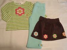 Gymboree 12 18 24 Month Growing Flowers Brown Skirt Stripe Shirt Outfit Choice