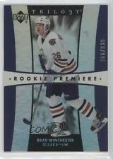 2005 Upper Deck Trilogy #254 Brad Winchester Edmonton Oilers Rookie Hockey Card