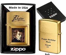 ZIPPO LIGHTER  CHOPIN  CUSTOMIZED PERSONALISED YOUR PHOTO TEXT BIRTHDAY GIFT