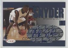 2004-05 Sage Autographed Basketball #A29 Kirk Snyder Auto Rookie Card