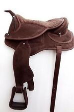 Yesrd Synthetic Suede Western Treeless Horse Saddle with fenders