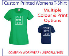 ~CUSTOM PRINTED WOMENS FIT T-SHIRT~ , Personalised - Hen / Workwear / Event,
