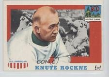 1955 Topps All American 16 Knute Rockne Notre Dame Fighting Irish RC Rookie Card