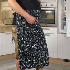 New Arrival  Stripe Half Apron With Pocket Chef Waiter Kitchen Cook Fashion HU