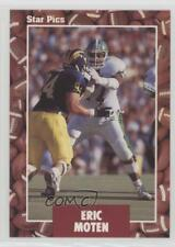 1991 Star Pics #15 Eric Moten Michigan State Spartans Rookie Football Card