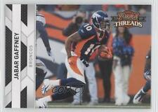 2010 Panini Threads #43 Jabar Gaffney Denver Broncos Football Card