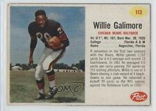 1962 Post #113 Willie Galimore Chicago Bears Football Card