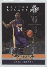2009-10 Panini Season Update Lakers Legacy #1 Kobe Bryant Los Angeles Card