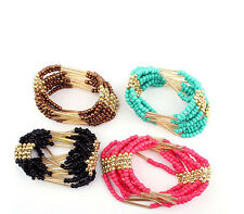 Multilayer Womens Beaded Bangle Charming Bracelet Jewelry Bracelet Bohemian