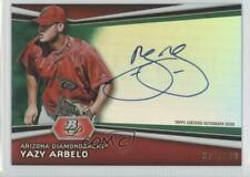 2012 Bowman Platinum #AP-YA Yazy Arbelo Arizona Diamondbacks Auto Baseball Card