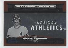 2005 Playoff Prestige Prestigious Pros Orange PP-74 Rollie Fingers Baseball Card