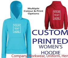 ~CUSTOM WOMENS PRINTED HOODIE~ , Personalised - Hen / Workwear / Event, Hoody