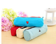 Stationery Animal Canvas Pencil Pen Case Cosmetic Makeup Bag Pouch Fashion HU