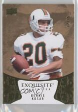 2014 Upper Deck Exquisite Collection #28 Bernie Kosar Miami Hurricanes Card