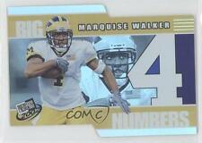 2002 Press Pass Big Numbers BN24 Marquise Walker Michigan Wolverines Rookie Card