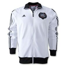 New LARGE Adidas Mens RIVER PLATE TRACK TOP Soccer Argentina White Jersey Shirt