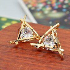 Rhinestone Elegant Earrings Ear Crystal Lovely Women Hot Stud Square Triangle