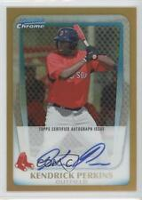 2011 Bowman Chrome #BCP189 Kendrick Perkins Boston Red Sox Auto Baseball Card