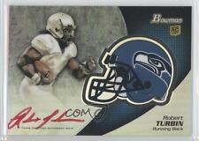 2012 Bowman Chrome Rookie Autographs Red Ink #BCRA-RTU Robert Turbin Auto Card