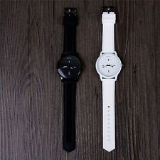 Harajuku Jelly Wrist Watches Soft Silicone Strap Band Quartz Large Dial