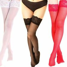 Sexy Tights Ladies  Fashion Thigh High Stockings Pantyhose  Lace Top  Stay Up