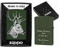 ZIPPO LIGHTER  HUNTING  CUSTOMIZED PERSONALISED YOUR PHOTO TEXT BIRTHDAY GIFT