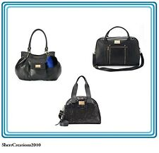 NWT Juicy Couture Weekender Tote Travel Bag Sequin Black Faux Leather Crossbody