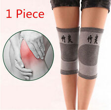 1x Brace Kneecap Support Bamboo Gym Guard Bike Charcoal Protector Knee NEW