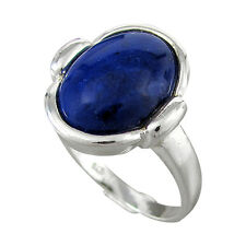 Schmuck-Michel Ring Silver 925 Lapis Lazuli 0 5/8x0 1/2in Size 50-65 to choose