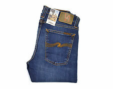 Nudie Tube Tom Jeans, Blue Nights, Blue, Cotton, 111519, Skinny Jeans, New