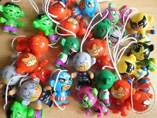 KINDER MARVEL TWISTHEADS KEYRING FIGURES SPIDERMAN IRON MAN HULK THOR VENOM LOKI
