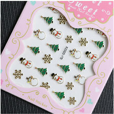 Christmas Nail Art Transfer Stickers 3D Design Manicure Tips Decal Decor   ST
