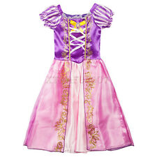 UK Kids Girls Classic Princess Rapunzel Costume Fancy Dress Dressing Up Outfit