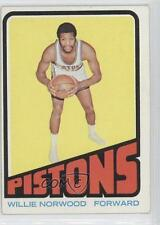 1972-73 Topps #94 Willie Norwood Detroit Pistons RC Rookie Basketball Card