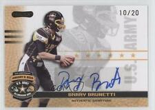 2010 Razor US Army All-American Bowl Autographs Gold #BA-BB1 Barry Brunetti Auto