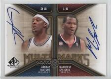 2009 SP Game Used MD-BS Andray Blatche Marreese Speights Philadelphia 76ers Auto