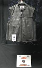 MOTORCYCLE RIDING BRUTE LEATHER VEST M XL STREET HARLEY LEATHERS BIKE