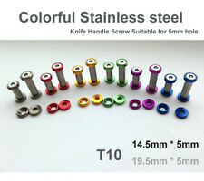 "0.56""(14.5mm) colorful Stainless steel Knife Handle Screw Suitable for 5mm hole"