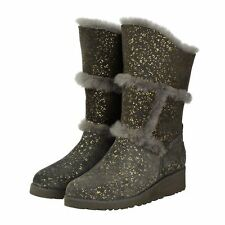 Charcoal Gold Sparkle Tall UGG Boot Made in Australia JUMBUCK UGG Boots 9 Lady