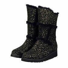 Gold Black Sparkle Tall UGG Boot Made in Australia JUMBUCK UGG Boots size 6 Lady