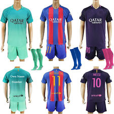 2017 New Adult Football Home/Away Kit Suit Jersey & Shorts & Socks S,M,L,XL
