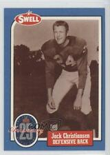 1988 Swell Football Greats Hall of Fame #32 Jack Christiansen Detroit Lions Card