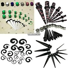 New 23 Pcs Ear Taper+ PLUG Kit 14G-00G 1.6mm-10mm Gauges Expander Set ONMF