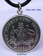 Australian Florin sterling silver .925 coin Pendant