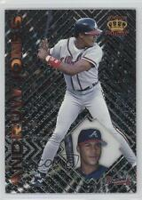 1997 Pacific Crown Collection Prism Platinum 78 Andruw Jones Atlanta Braves Card