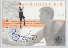 2001 SP Authentic 133 Autographed Rookie F/X Troy Murphy Auto RC Basketball Card