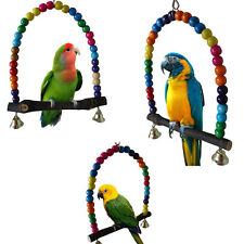 Bird Parakeet Cockatiel Parrot Swing Toys Lovebird Budgie Cage Stand Hanging