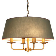 New Modern Fabric Shade Drum Pendant Lamp Ceiling Light Chandelier Fixture PL515