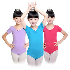 Girls Gymnastics Leotard Dress Ballet Dance Unitards Kids Dancewear Costume 4-14