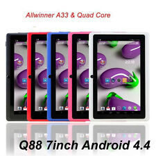 "7"" 8GB MID Tablet PC Q88 A33 QUAD CORE 7 Inch Android 4.4 AllWiner Multi Color c"